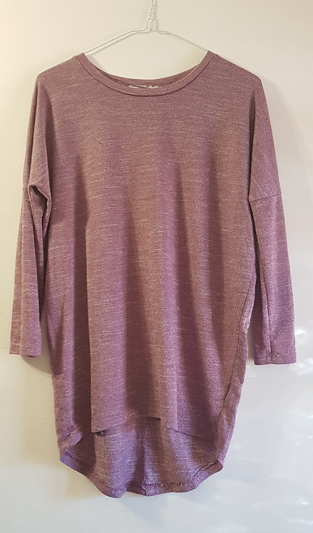 ATMOSPHERE pale plum coloured long top size 6