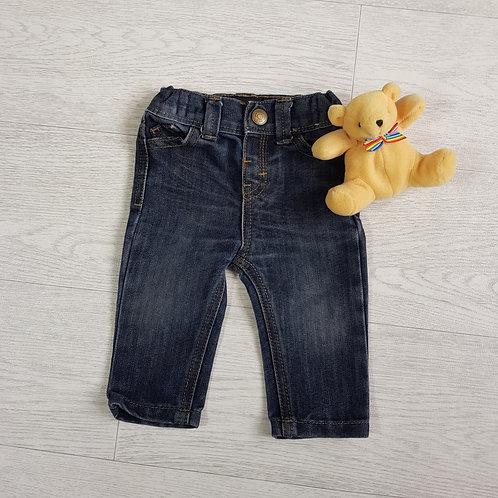 Denim Co dark rinse jeans. 3-6m