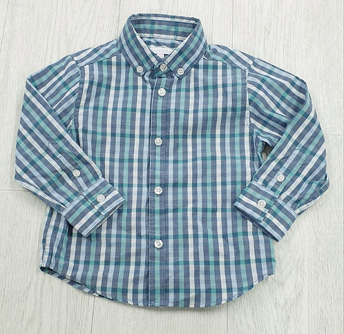 Blue Zoo check shirt. 18-24m