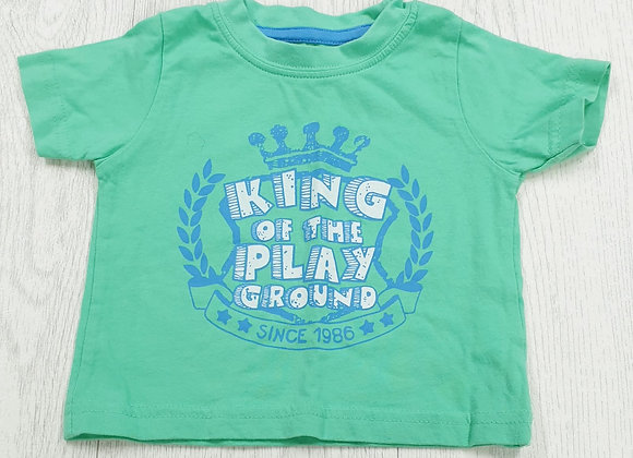 Early Days green t-shirt. 9-12m