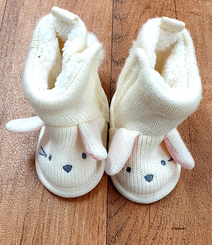 Mothercare Bunny slippers. 3-6m