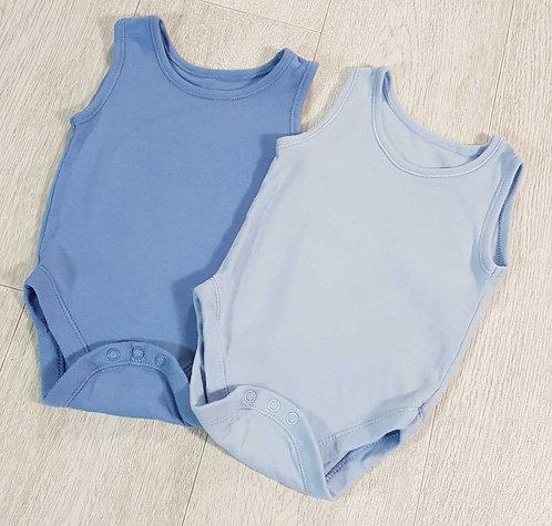 💙George blue vests. 3-6months