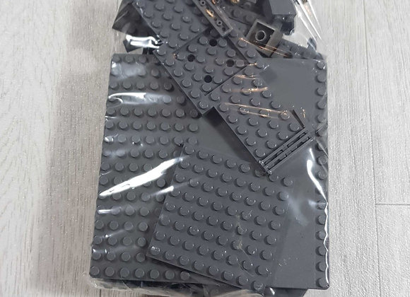 ◾Bag of dark grey Lego/Lego compatible bricks and parts. 250-300g approximately
