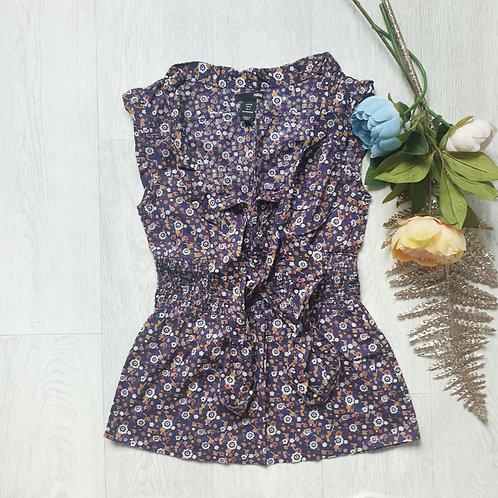 🧡H&M floral blouse. Euro 34
