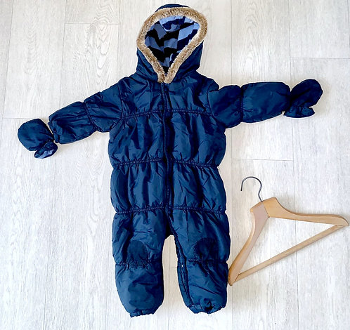 🌗Next navy snowsuit with mittens. 12-18m