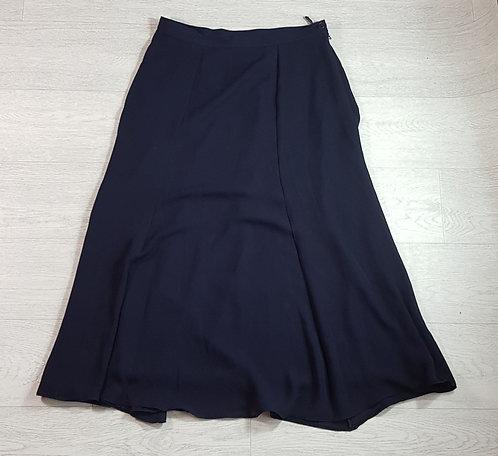 Alexon navy calf length skirt. Size 14