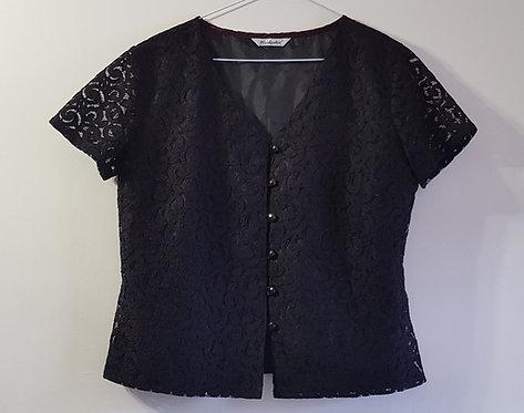 Berkertex. Black blouse. Hand wash only. Size 14.