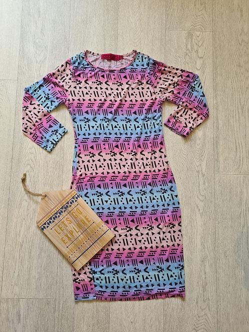 💐Boohoo colourful dress. Size 6