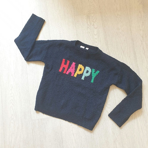 💚Gap navy Happy sweater. Size L
