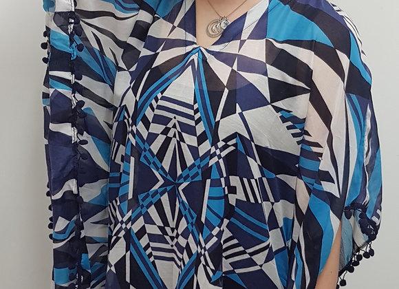 ◾🏴blue patterned kimono. Size S/M NWOT