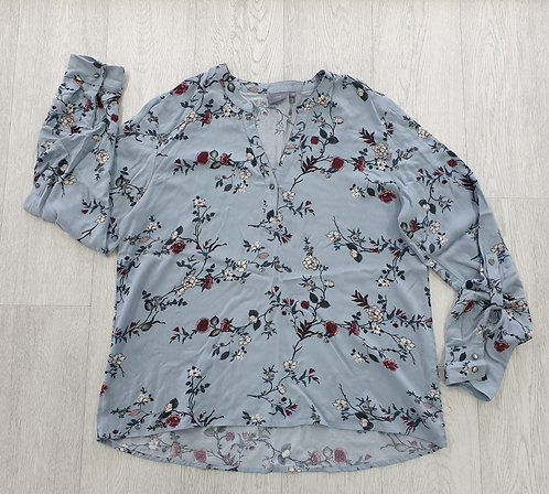 Be Young duck egg floral blouse. Eu 42