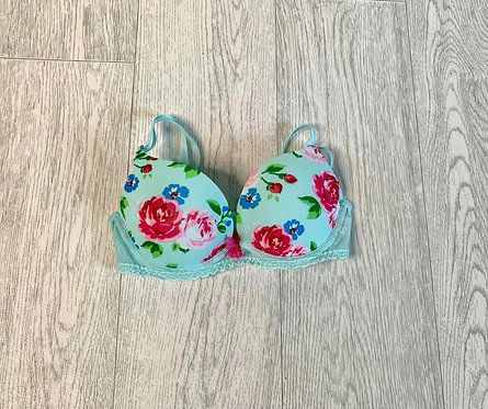 🌞Gilly Hicks turquoise rose padded bra. 32B