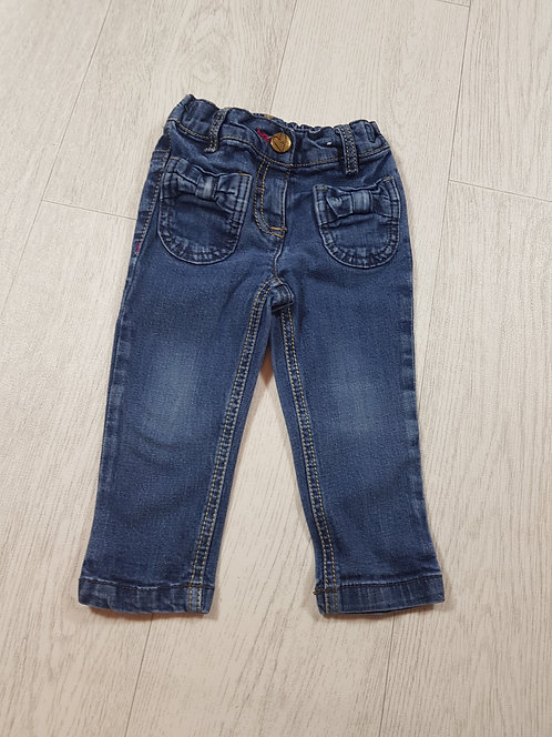 🌈Next girls bow Jean's size 9/12 months