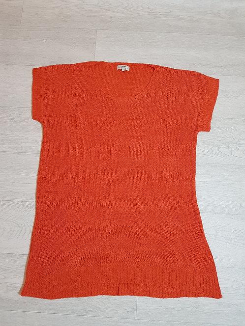 🔴PAPAYA orange knit short sleeve top size 18