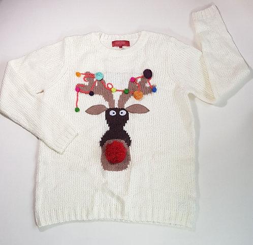 Next cream knit Rudolf jumper. Size 14 NWOT