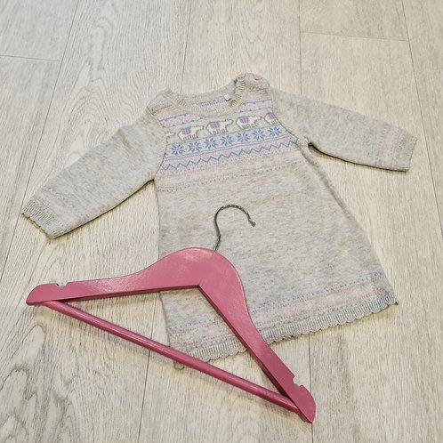🍁Tu grey knit dress. Up to 3months