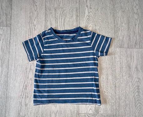 🦊Matalan blue striped tshirt. 18-23m