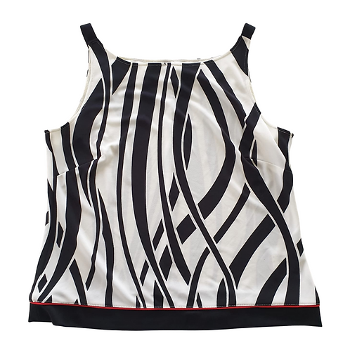 Betty Barclay Black and white strap top. Uk 16