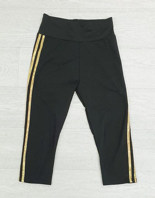 Black cropped sports leggings. Size S/M