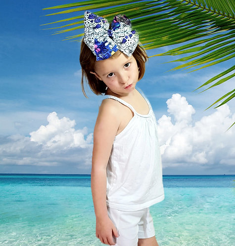 Girl 2 Girl white vest top with diamante detail. 6-7yrs