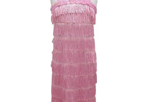 Christy's Dress Up Flappy pink tassle dress. 8-10yrs