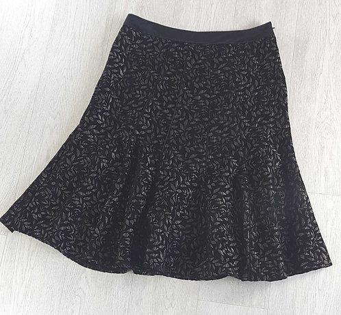 PER UNA Black textured skirt size 12