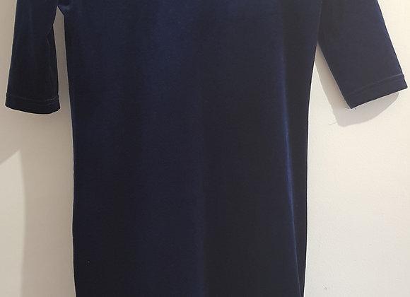 New Look. Blue velvet mini dress. Size 10.