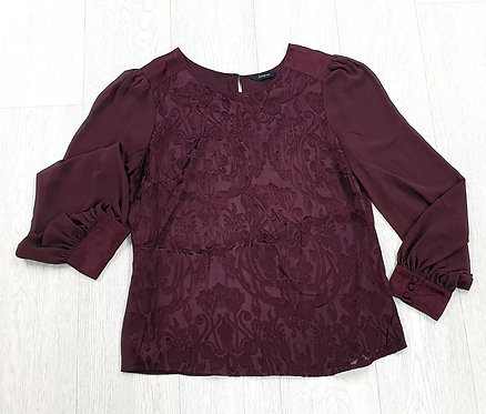 Autograph red wine blouse. Size 10