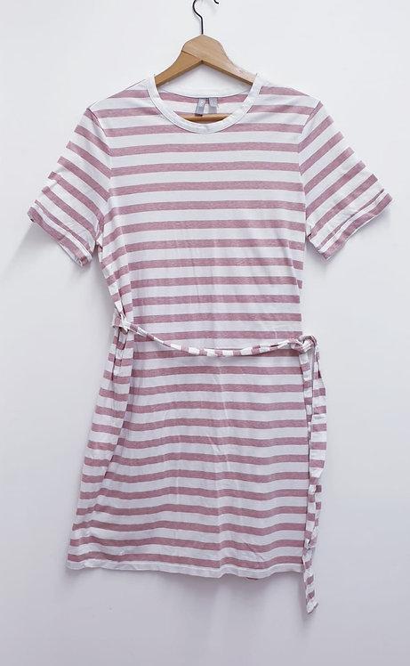 🌺Asos white/pink dress. Size 14