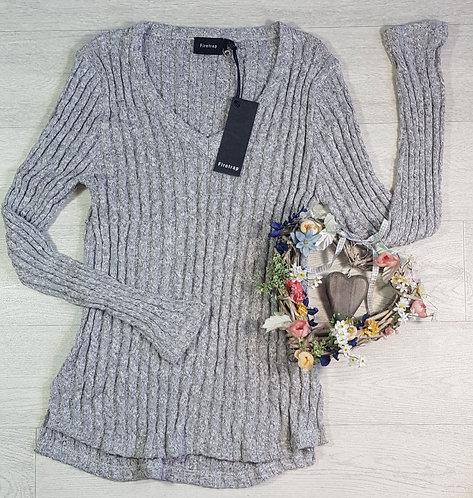 Firetrap grey knit sweater. Size 14 NWT
