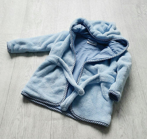 Early Days blue robe. 6-12m