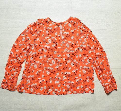 M&S orange blouse. Size 16