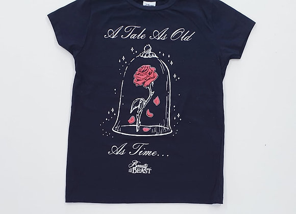 ⚘Beauty & The Beast black t-shirt. Size 4
