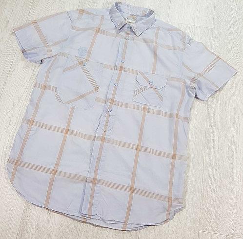 Diesel pale blue summer short sleeved shirt. Size Large