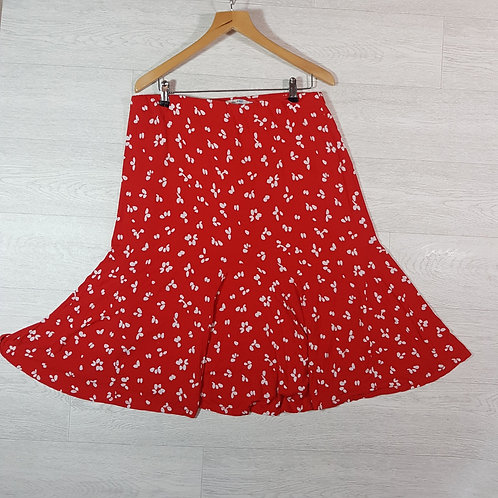 Boden red stretch fit skirt. Size 18