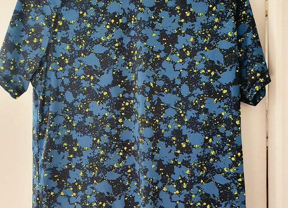 ○Crivit blue patterned sports top. Size M