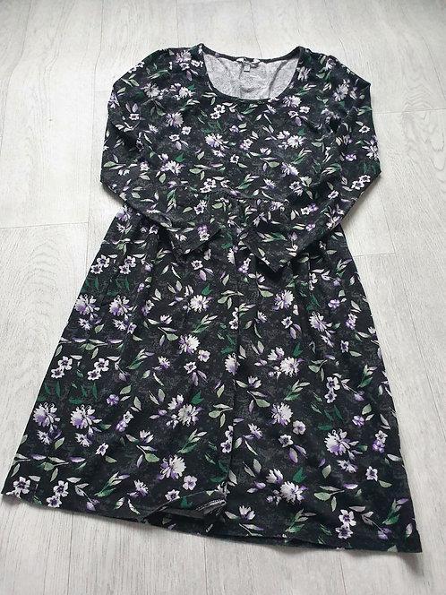 Charcoal floral dress. Size 10