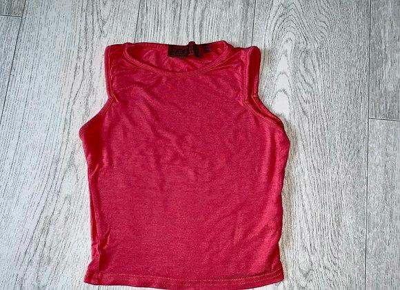🦊Boohoo pink crop top. Size 6
