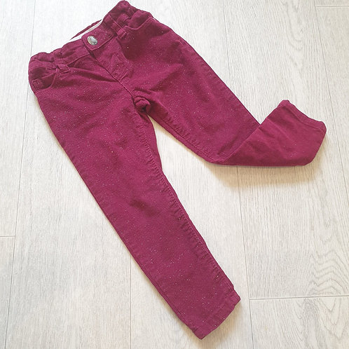🌸Denim Co dark red glittery skinny trousers. 2-3yrs