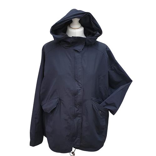 Betty Jackson Black  navy hooded jacket. Uk 16