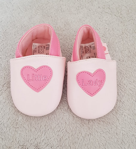 MOTHERCARE Pink soft shoes. Size 1 3-6m