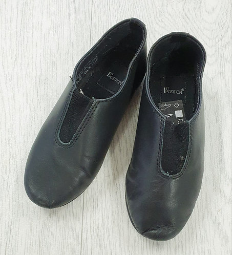 1st Position black dance shoes. Infant size 9