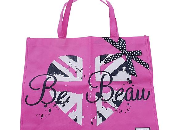 Be Beau Matalan pink shopping bag
