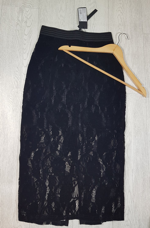 🔷️Lost link black lace midi skirt size 10 with zip back (NWT)