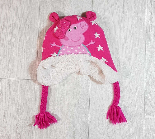 ◽Mothercare pink Peppa Pig winter hat. 3-6yrs