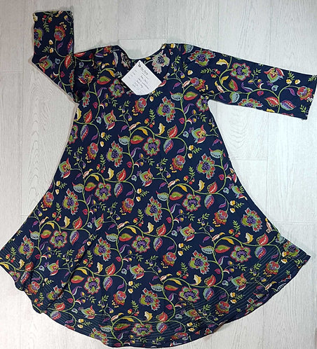 ◾The Shop floral navy dress. Size S NWT