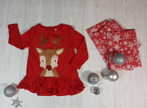 ◽Bluezoo reindeer top. 12-18month's