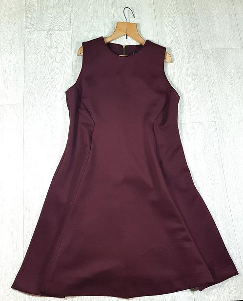 🔷️Atmosphere burgundy high neck skater dress with zip up back size 10
