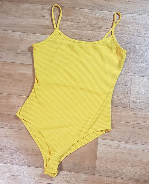 Primark yellow ribbed body suit. Size XS/ 6-8
