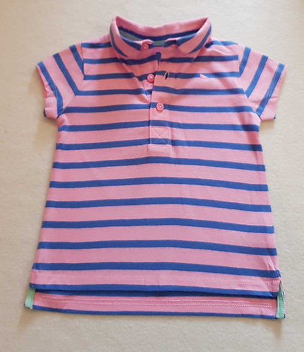 Next pink and blue striped polo shirt. 3-6months